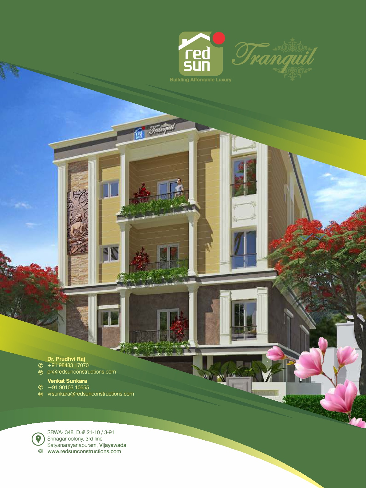 Luxurious Residential Property RedSun Tranquil in Srinagar Colony – Vijayawada